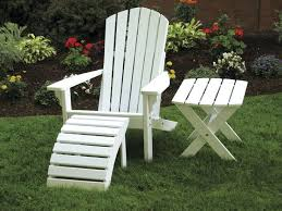 painted adirondack chair ottoman and side table great for outdoor relaxation on the patio amish made in the usa ottomans patios and