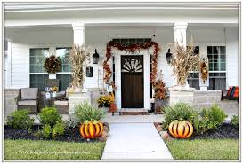 farmhouse style front doorsFrom My Front Porch To Yours Inviting Fall Porch Farmhouse Style