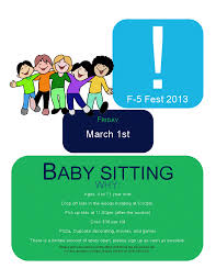 casady f 5 fest update the babysitting event cannot take place on campus due to concerns safety of children teens liability issues and no available faculty to