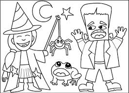 Small Picture Costumes Halloween Coloring Pages Gallery Coloring Page