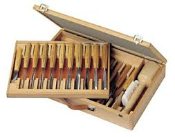 pfeil carving tools. pfeil swiss made carving tools set - box