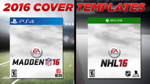 madden nfl nhl cover templates