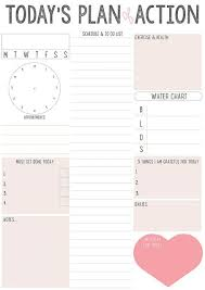 Action Day Planner Template Daily Plan Of Action How To Plan Planner Pages Printable