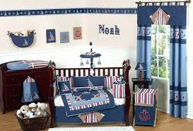 nautical baby bedding navy blue crib set infant nursery large collection sailboats anchor cot sets boy