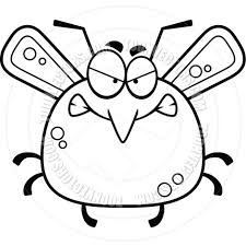 bug clipart black and white. cartoon little mosquito angry black and white line art by cory bug clipart a