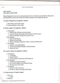 term paper outline template