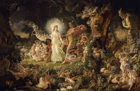 a midsummer night s dream the quarrel of oberon and titania by joseph noel paton