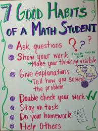 Good Habits Chart For School 7 Good Habits Chart For Math Students Anchor Chart