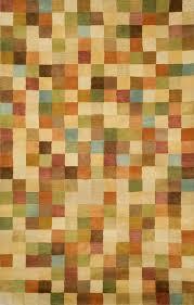 petra squares pastel rug