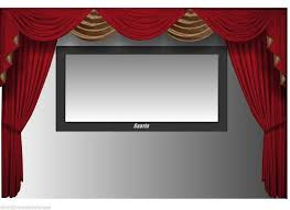 details about saaria velvet curtains screen home theater 12 w x 8 h stage events hall