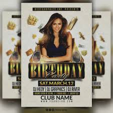 Birthday Flyers Template Great Of Birthday Party Flyer Templates Template 24th Flyer 16