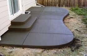 concrete slab patio. Concrete Slab Patio Design Ideas Designs Home Elements And Style Medium Size Low Cost Layout Rectangle