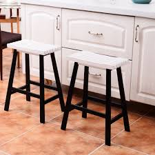 24 inch wooden bar stools. Exellent Inch Ktaxon Set Of 2 Bar Stools Kitchen Counter Dining Saddle Seat Wood Pub  Chair 24 Inch Throughout Wooden E