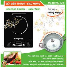 Bếp điện từ đơn siêu mỏng Kangaroo KG430i (Tặng 1 nồi Inox nắp kính 28cm) -  819,000