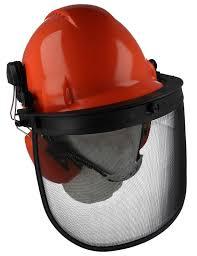 chainsaw helmet. chainsaw ground helmet kit, ear defenders \u0026 visor