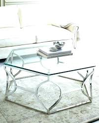 silver coffee table round glass legs