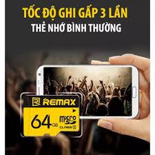 THẺ NHỚ SDHC REMAX 64GB 128GB chuyên dụng cho Camera IP và điện thoại  (CLASS 10 UHS-1) - Bảo hành 01 năm