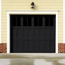 garage door color trend black flame
