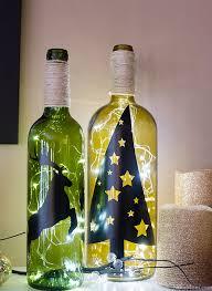diy wine bottle holiday decor