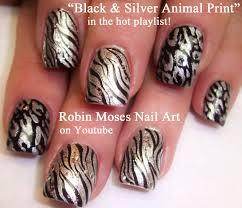 Nail Art! Black and Silver Animal Print Nails! Hot Nail Design ...