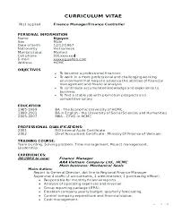 Resume Retail Example – Amere