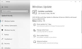 updates are force installing microsoft edge