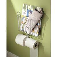 Chrome Toilet Paper Holder Magazine Rack Pottery Barn Mercer magazine rack Chrome Toilet Paper HOlder eBay 33