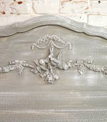 Shabby Chic Headboard Painted Cottage Chic Shabby French Grey Romantic Headboard Bd55