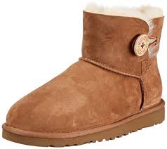 UGG Womens, Mini Bailey Button ankle boots CHESTNUT 5 M