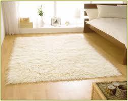 cream high pile rug
