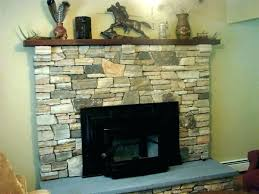 stone veneer over brick fireplace install can you