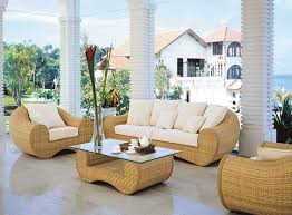 indoor wicker furniture.  Wicker Natural And Traditional Indoor Wicker Furniture For Interior Decor Idea  Cream Rattan With White Cuhsion Contamporary Living  N
