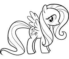 Small Picture Fluttershy Coloring Pages Best Coloring Pages For Kids