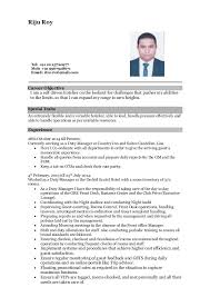 Gallery of Hotelier Resume Objective