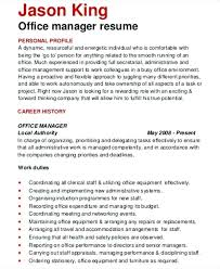 Sample Resume For Medical Office Manager Office Manager Resume Blogue Me
