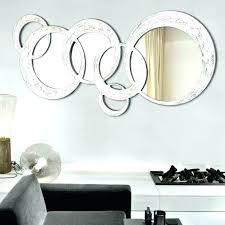mirror wall art mirror circles wall art chrome silver finish art style round wall circle mirror wall art mirror art wall decor uk