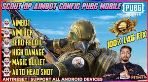 SCOUT OP AIMBOT CONFIG PUBG MOBILE, 100 ...