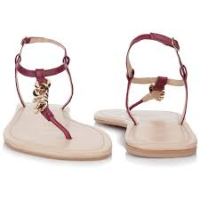Rare Earth Cayla <b>Ladies Sandal</b> - <b>Burgundy</b>/Gold
