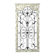 wood metal panel wall decor one way gate white and reviews