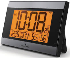 digital office clocks. digital wall clock with temperature and humidity office clocks