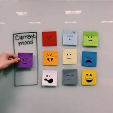 office desk decorations. use sticky notes to give your coworkers a heads up on current mood as they approach desk office decorations o