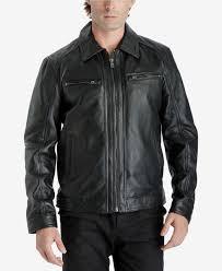996 michael kors men black leather biker er warm jacket winter coat xl