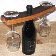 glass and bottle holder wine bottle and glass holder
