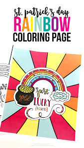 Small Picture StPatricks Day Rainbow Coloring Page