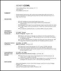 Auto Mechanic Resume Job Description Www Sfeditorwatch Com