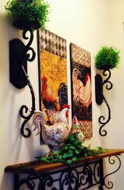 Rooster Kitchen Decor The Tuscan Home Wall Vignette Tuscan Mediterranean Decorating