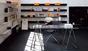 top home office ideas design cool home. Home Office Ideas : Bookshelves Rectangle Glass Top Table With Metal Base Long Black And White Wall Mounted Design Cool