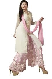 Amazon Punjabi Suits Design Chakudee By White Georgette Drees Material Amazon In