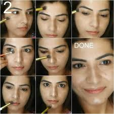 how to do strobing on your face with