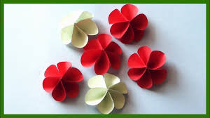 Easy Paper Flower Diy Paper Flowers Very Easy And Simple Paper Crafts Youtube